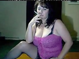 busty mama tells to cum whilst she is smokes by
