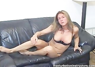 dominatrix shows her milk shakes and rubs herself